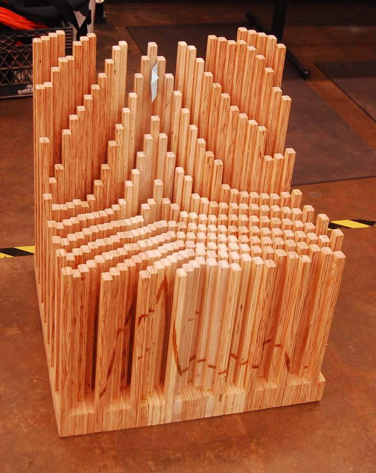 Dan Goodman Made A Chair From 527 Pieces Of Plywood 255